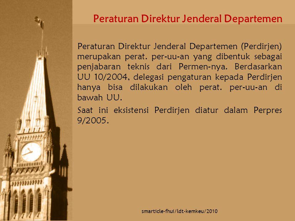 Peraturan Direktur Jenderal Departemen