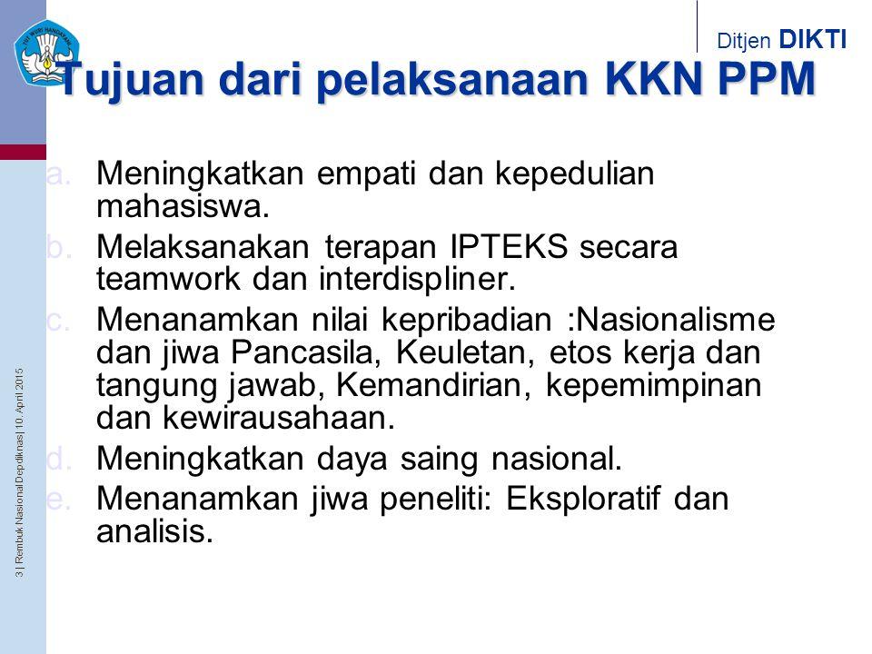 Tujuan dari pelaksanaan KKN PPM