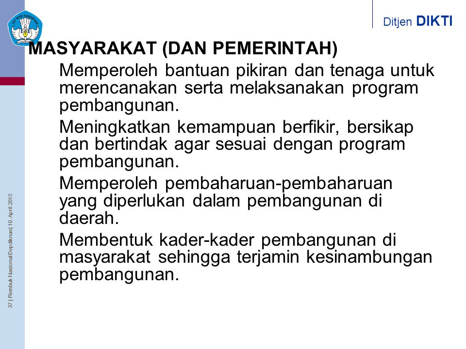 MASYARAKAT (DAN PEMERINTAH)