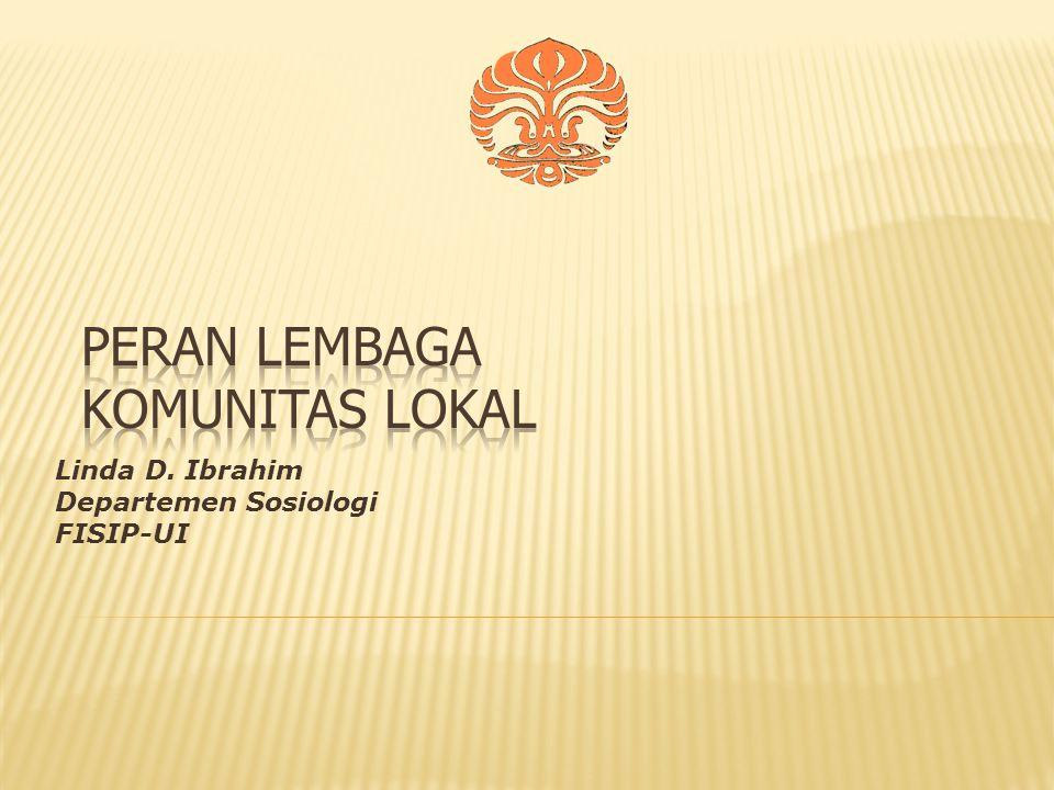PERAN LEMBAGA KOMUNITAS LOKAL