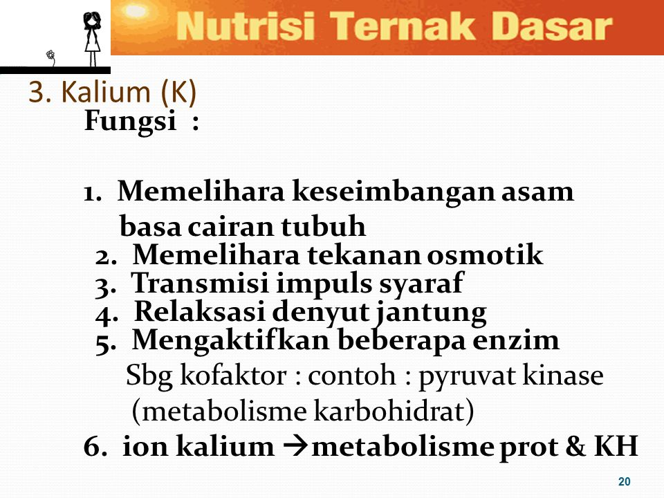 3. Kalium (K)