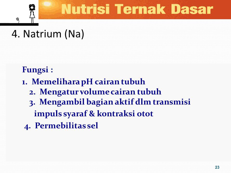 4. Natrium (Na)