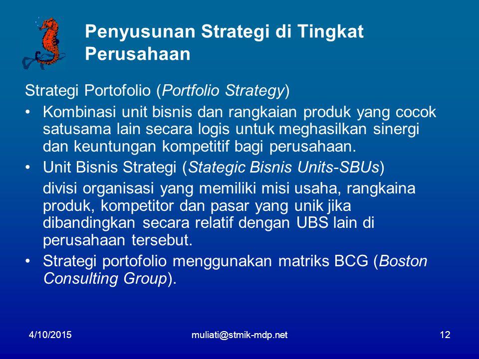 Penyusunan Strategi di Tingkat Perusahaan