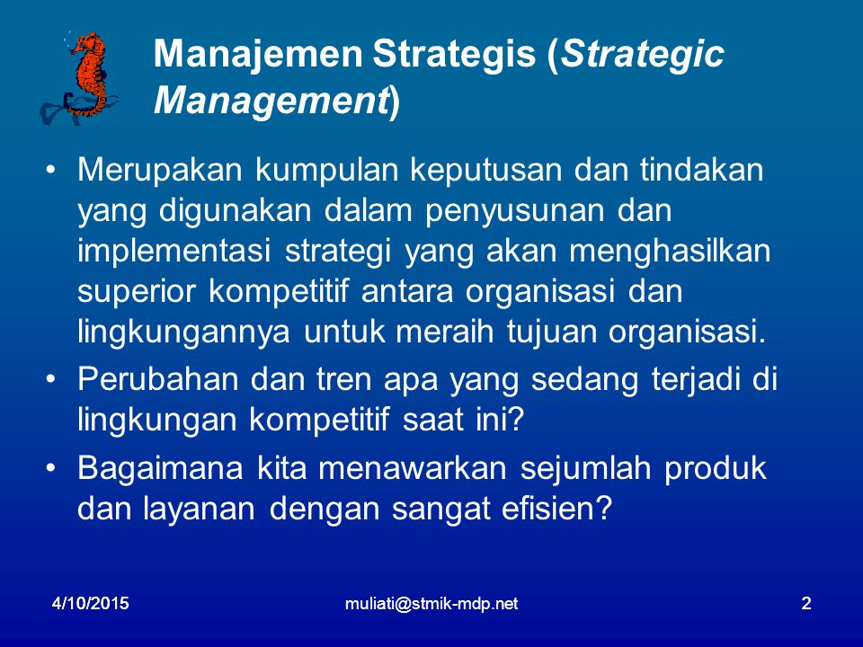 Manajemen Strategis (Strategic Management)
