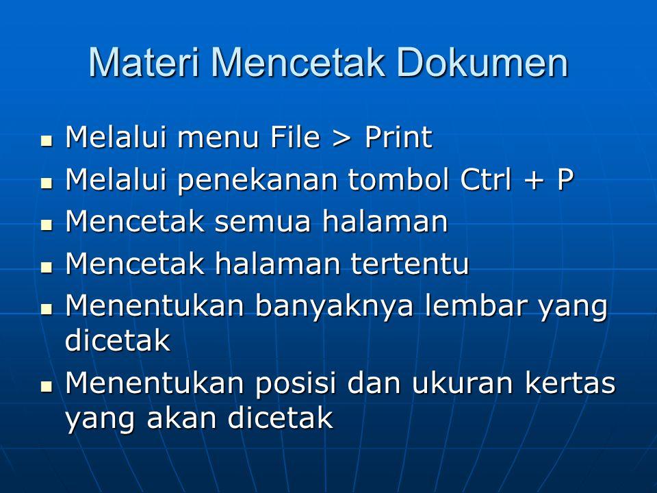 Materi Mencetak Dokumen