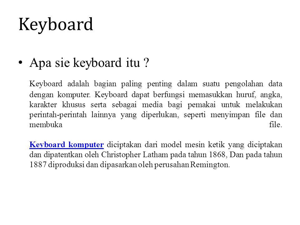 Keyboard Apa sie keyboard itu