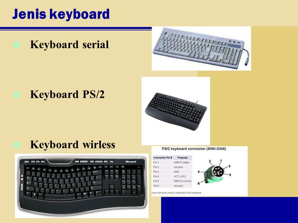 Jenis keyboard Keyboard serial Keyboard PS/2 Keyboard wirless