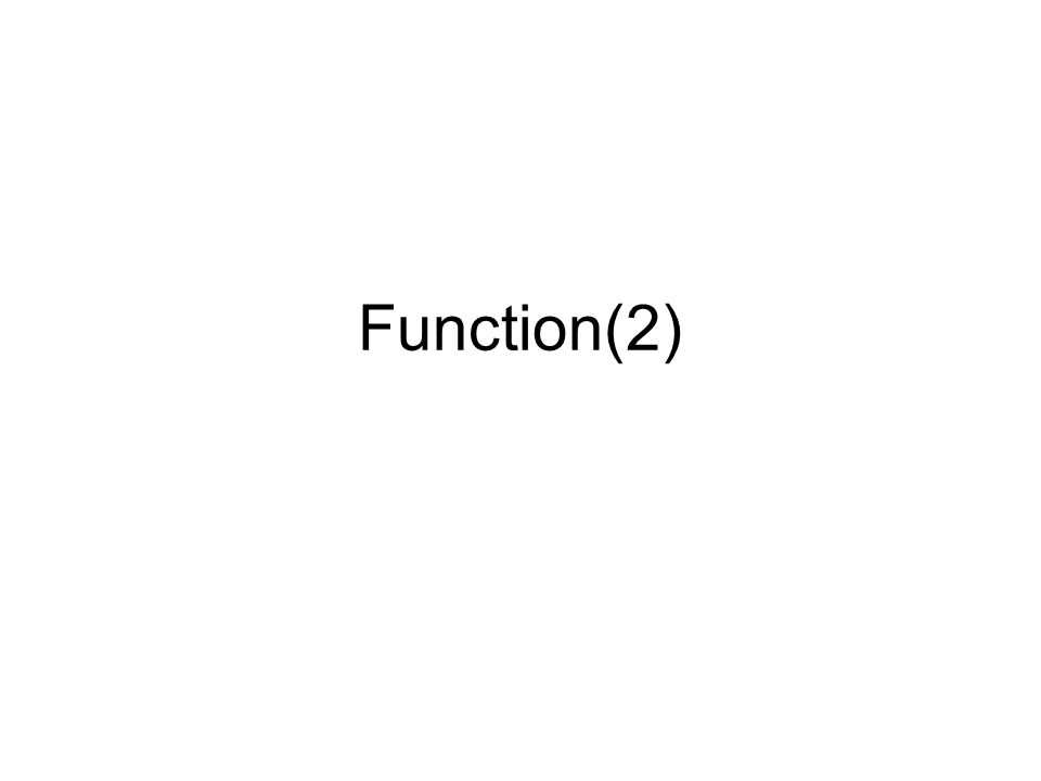 Function(2)