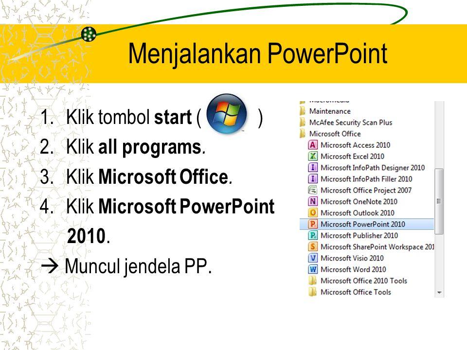 Menjalankan PowerPoint
