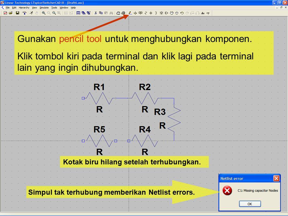 Simpul tak terhubung memberikan Netlist errors.