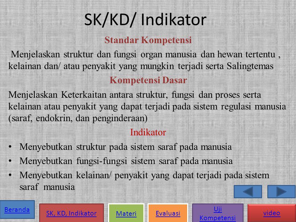 SK/KD/ Indikator Standar Kompetensi