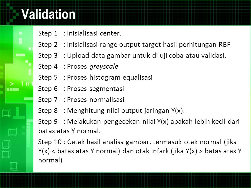 Validation Step 1 : Inisialisasi center.