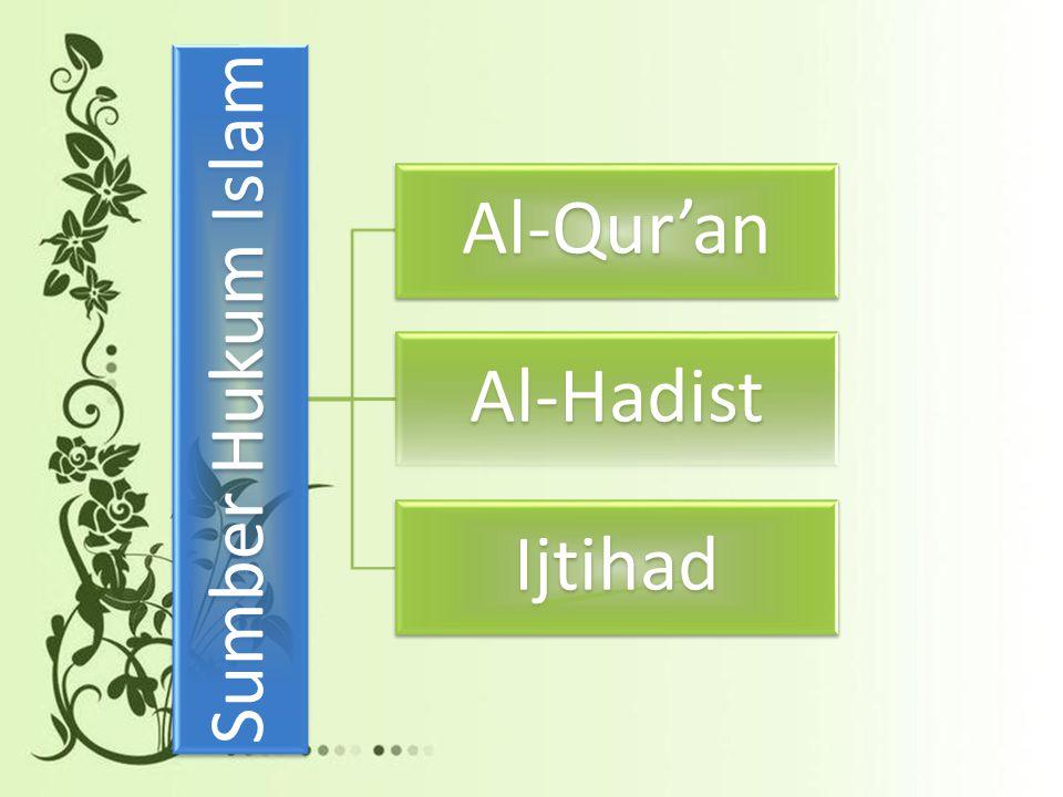 Sumber Hukum Islam Al-Qur'an Al-Hadist Ijtihad