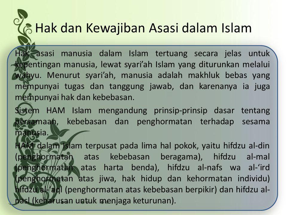 Hak dan Kewajiban Asasi dalam Islam