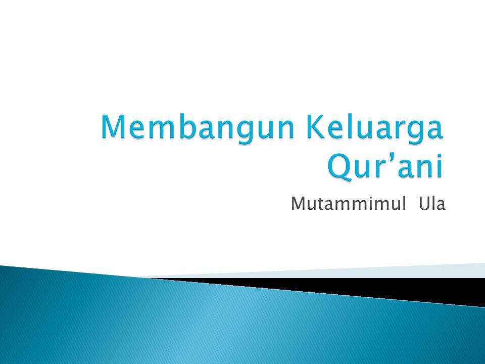 Membangun Keluarga Qur'ani