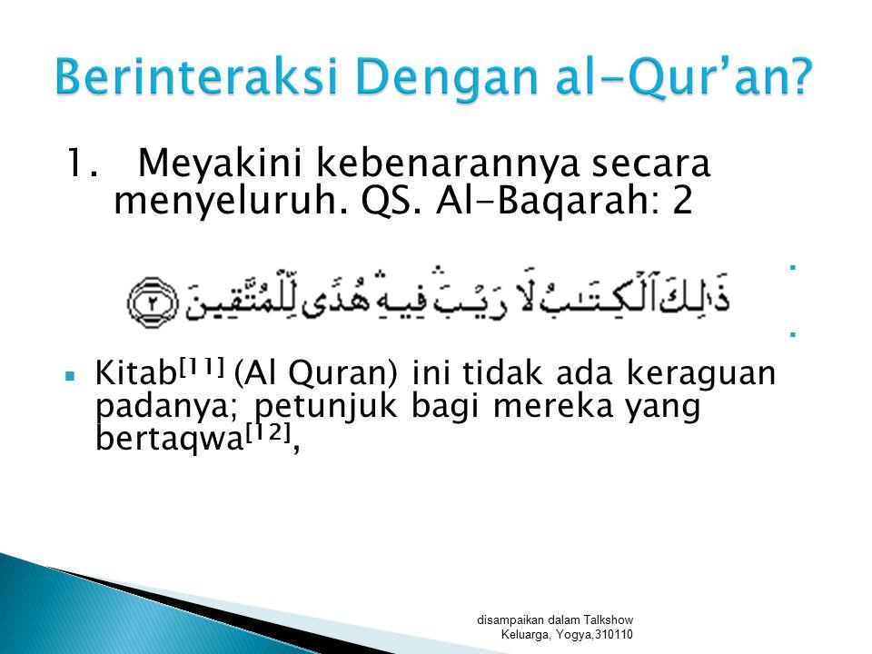 Berinteraksi Dengan al-Qur'an