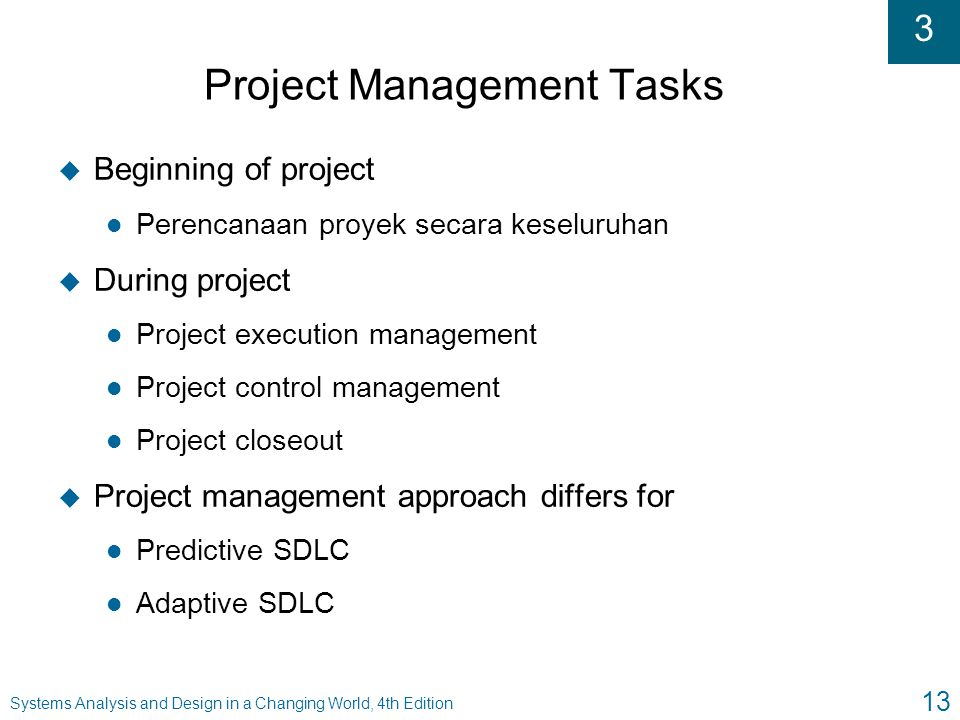Project Management Tasks