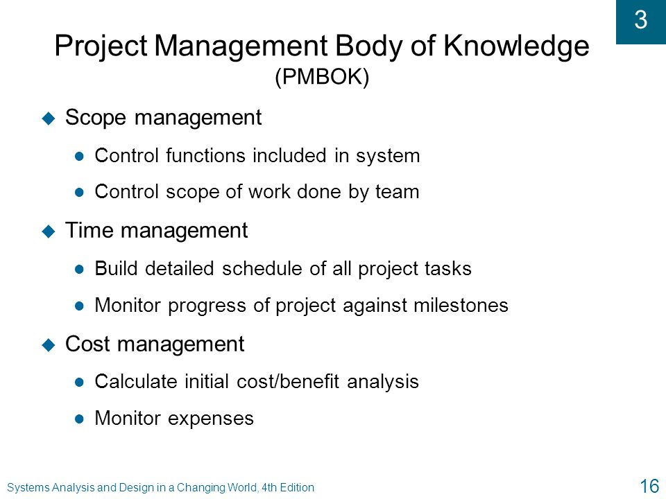 Project Management Body of Knowledge (PMBOK)