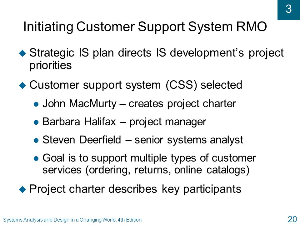Initiating Customer Support System RMO