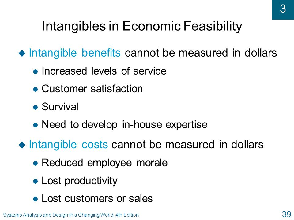 Intangibles in Economic Feasibility