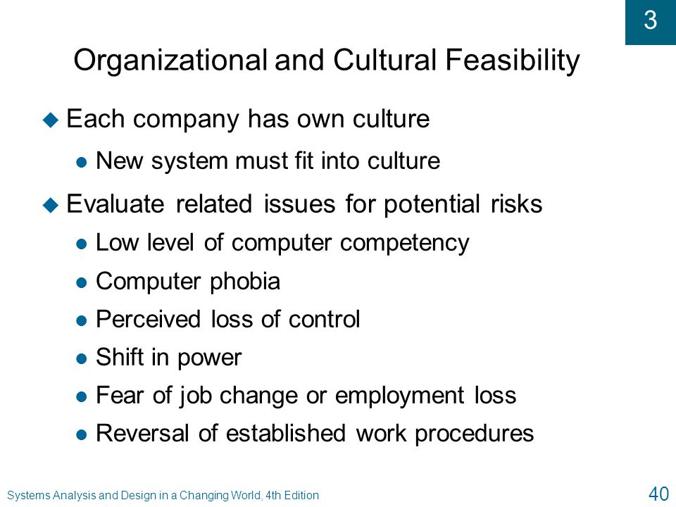 Organizational and Cultural Feasibility