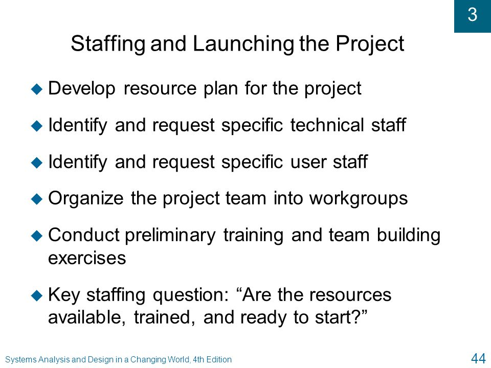 Staffing and Launching the Project