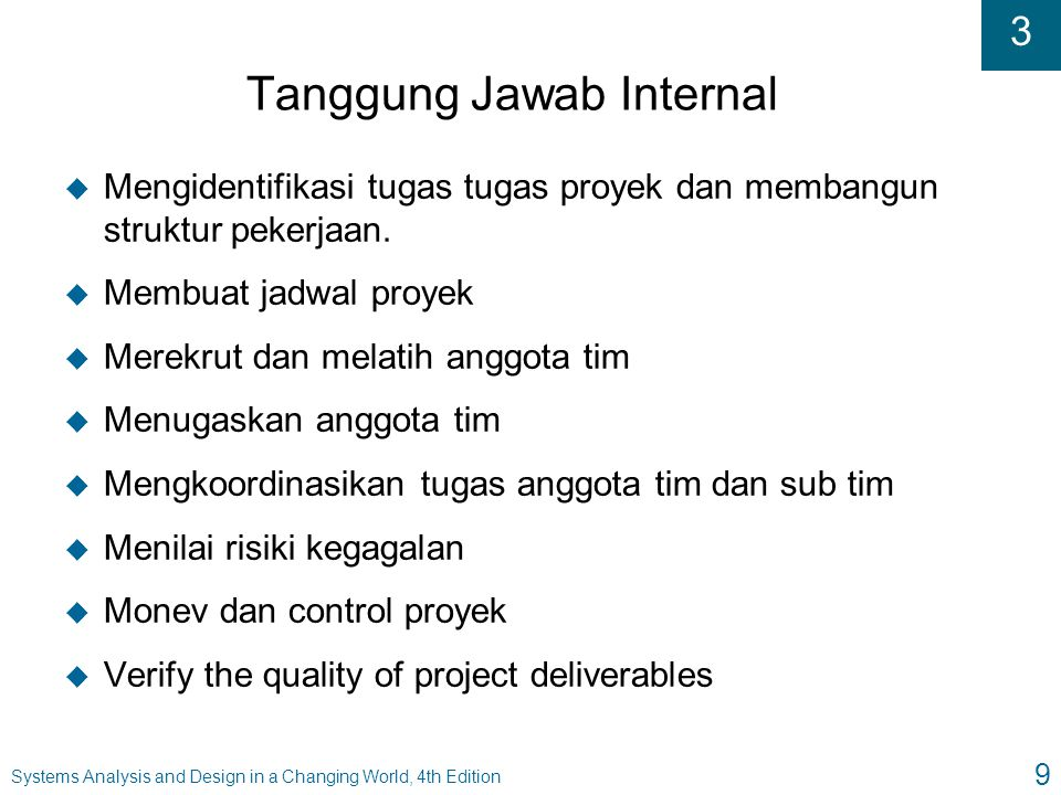 Tanggung Jawab Internal