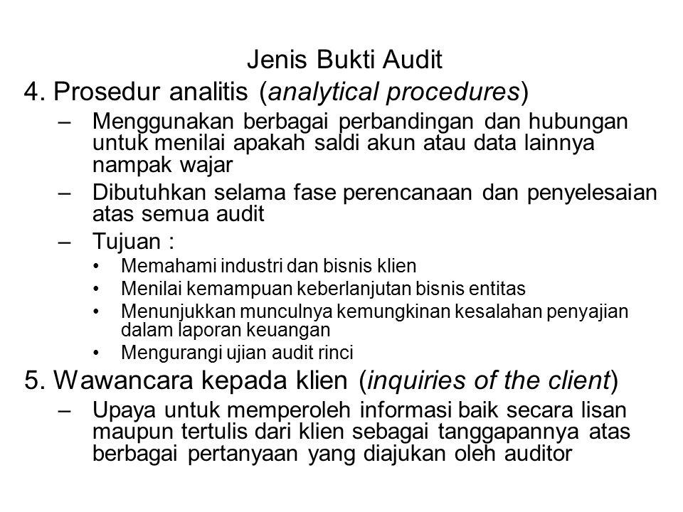 4. Prosedur analitis (analytical procedures)