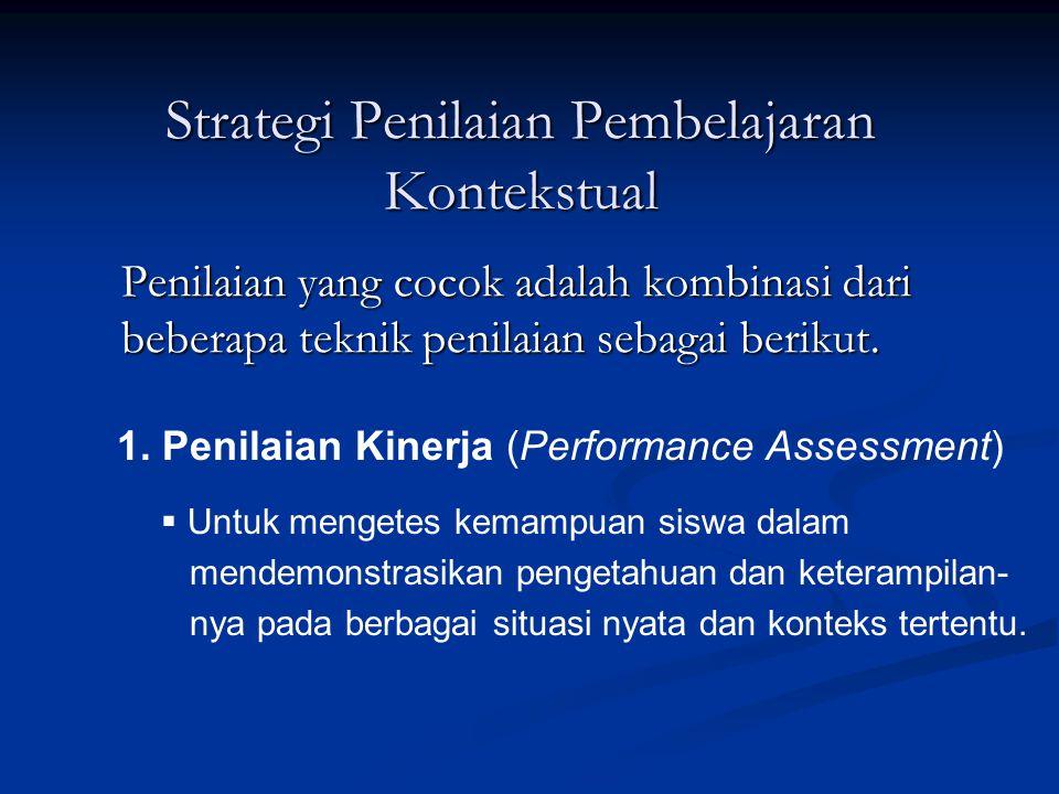 Strategi Penilaian Pembelajaran Kontekstual