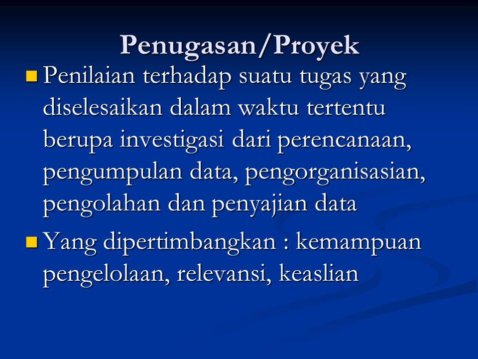 Penugasan/Proyek