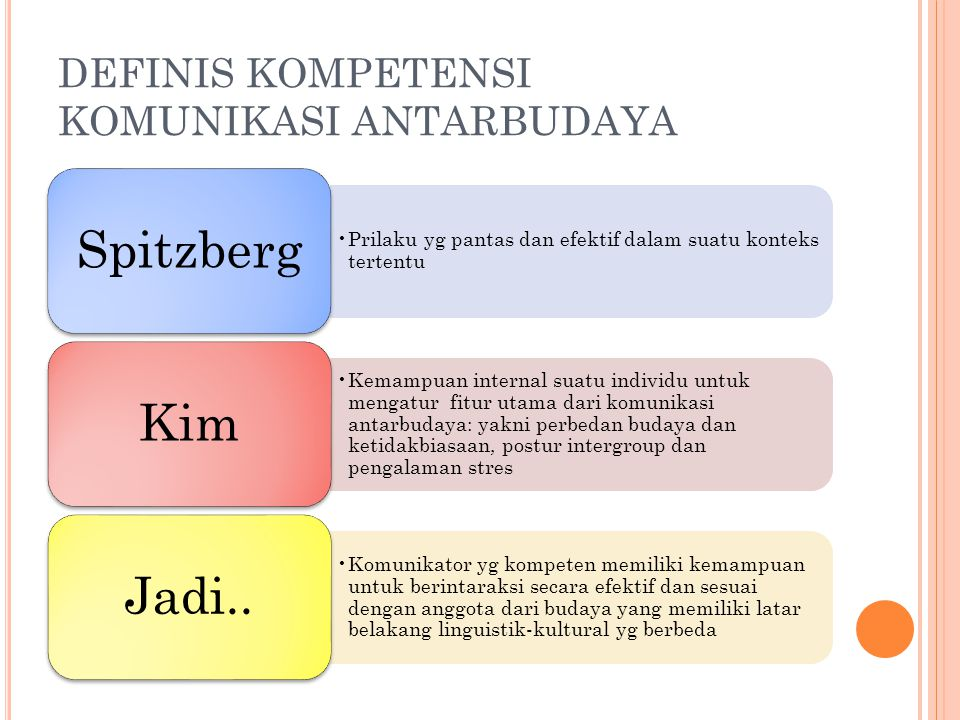 DEFINIS KOMPETENSI KOMUNIKASI ANTARBUDAYA