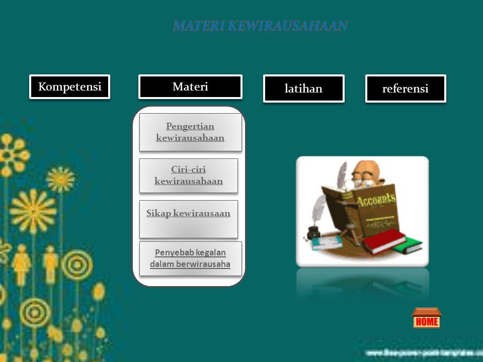 materi kewirausahaan Kompetensi Materi latihan referensi