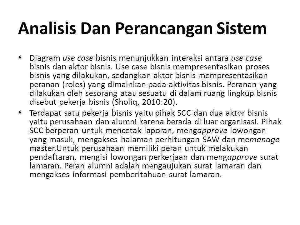 Analisis Dan Perancangan Sistem
