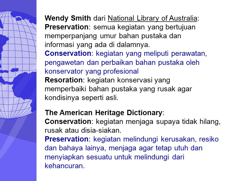 Wendy Smith dari National Library of Australia: