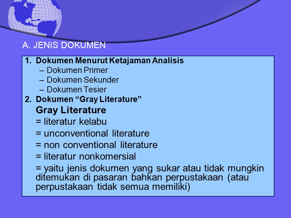 = unconventional literature = non conventional literature