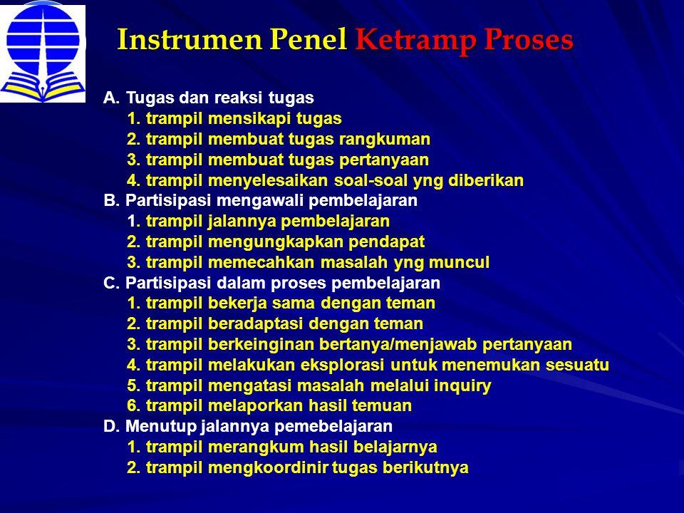Instrumen Penel Ketramp Proses