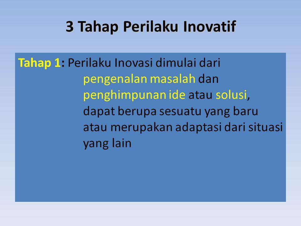 3 Tahap Perilaku Inovatif