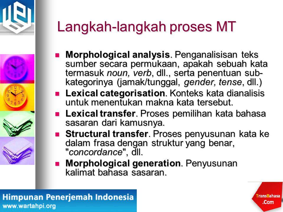 Langkah-langkah proses MT
