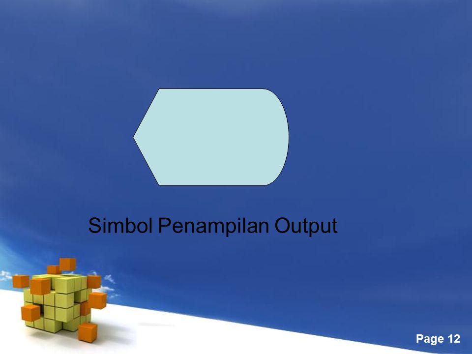 Simbol Penampilan Output