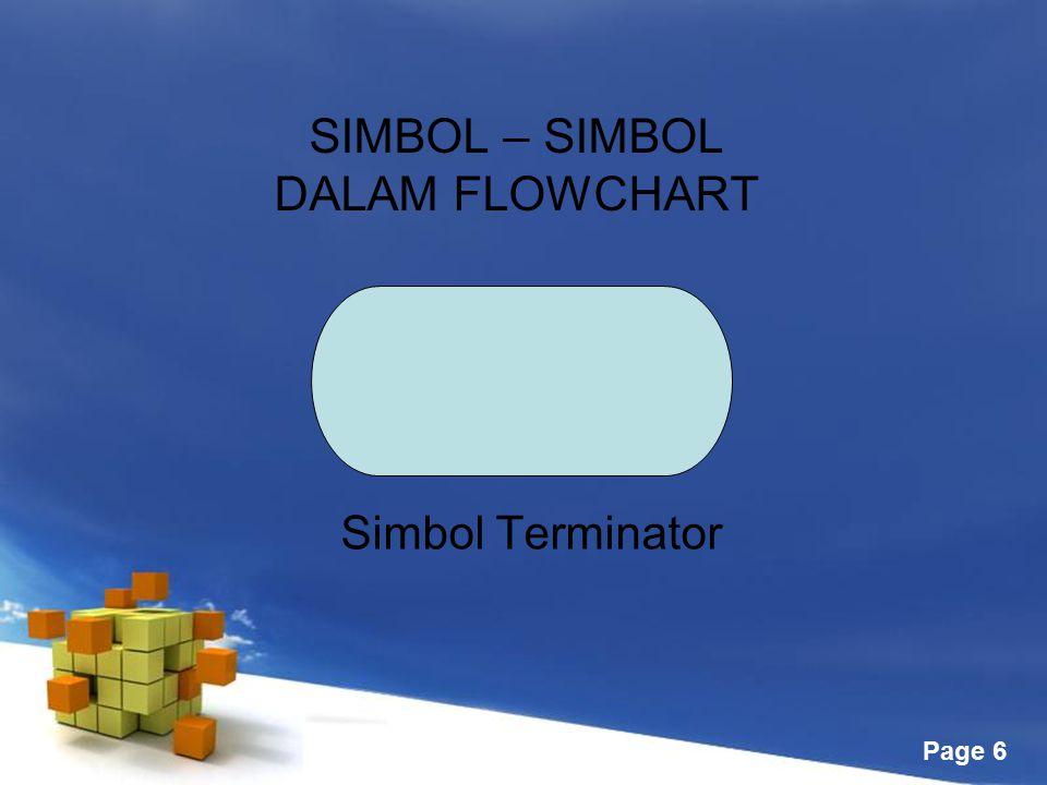 SIMBOL – SIMBOL DALAM FLOWCHART
