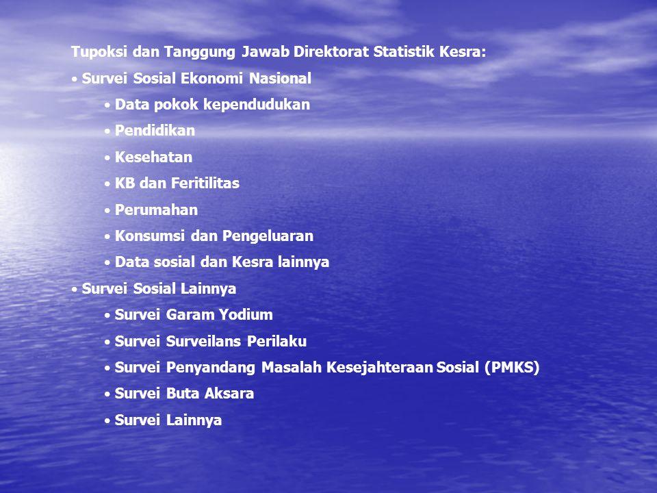 Tupoksi dan Tanggung Jawab Direktorat Statistik Kesra: