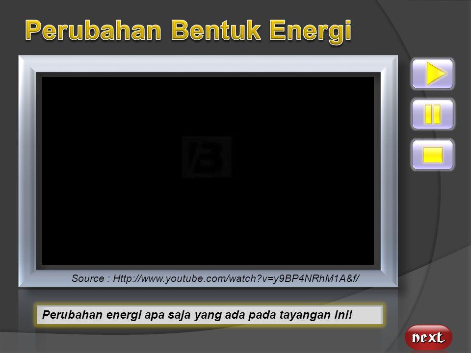 Perubahan Bentuk Energi