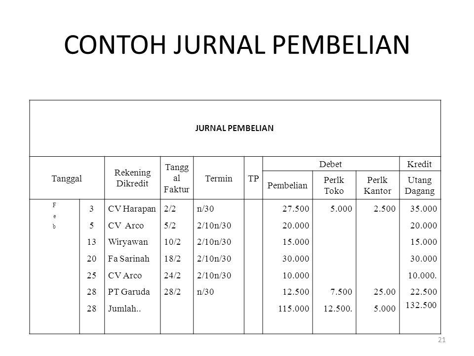 CONTOH JURNAL PEMBELIAN
