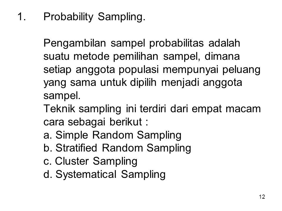 Probability Sampling.