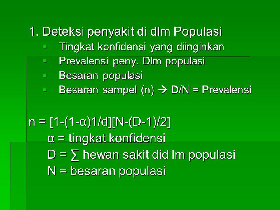 1. Deteksi penyakit di dlm Populasi