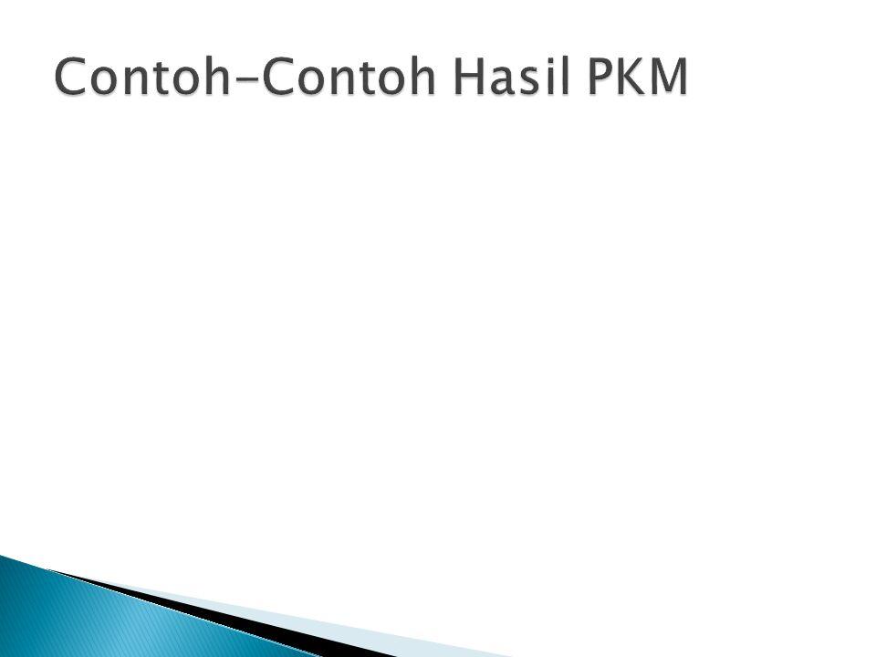 Contoh-Contoh Hasil PKM