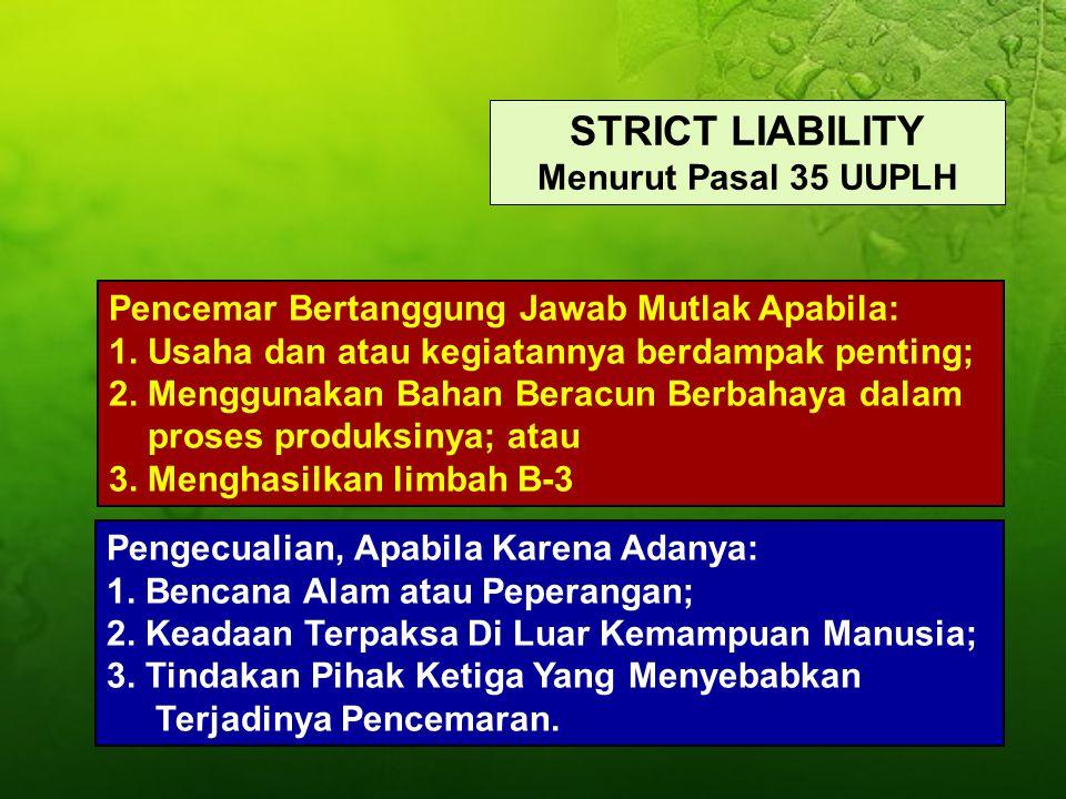 STRICT LIABILITY Menurut Pasal 35 UUPLH