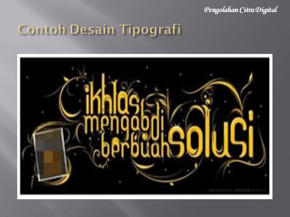 Contoh Desain Tipografi