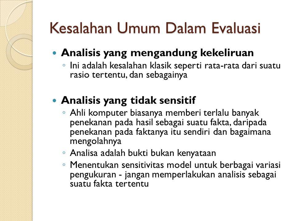 Kesalahan Umum Dalam Evaluasi