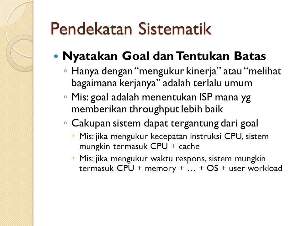 Pendekatan Sistematik